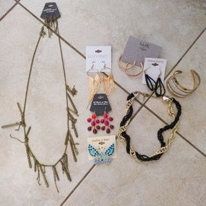 Bundle of neclaces, earrings and brooches